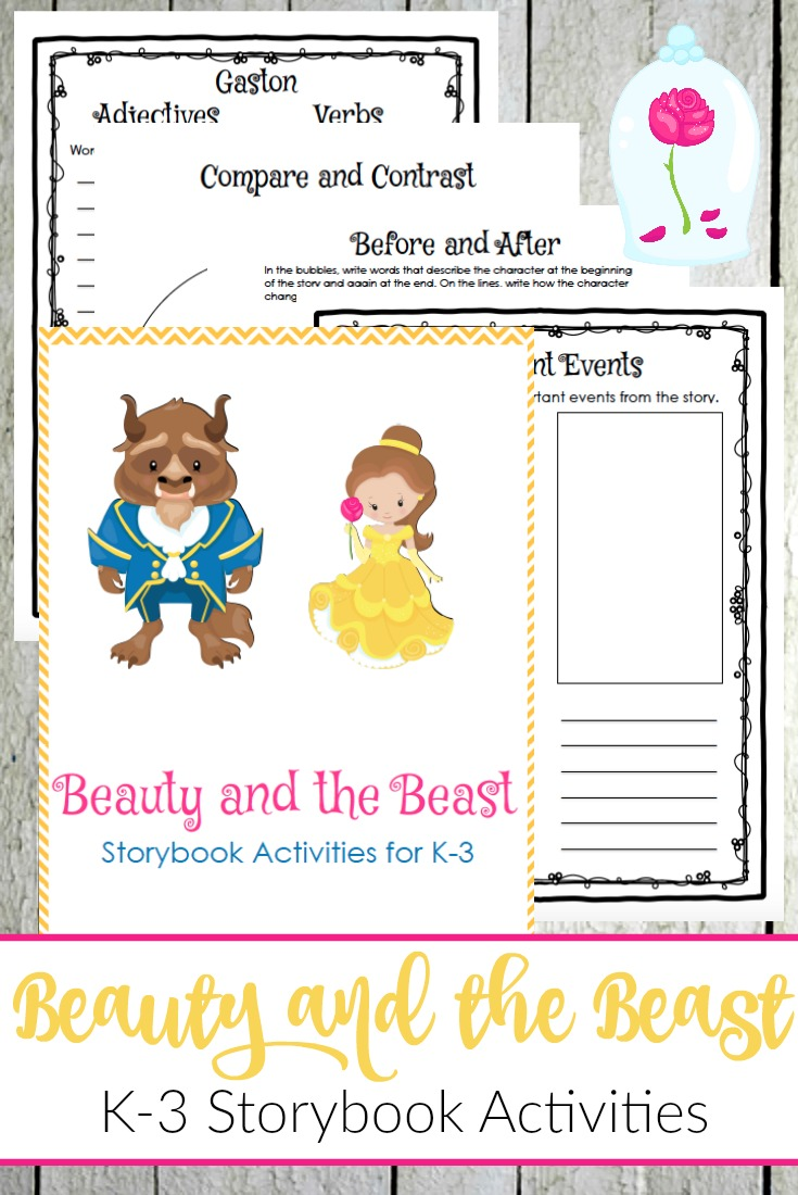 Beauty and the Beast is the perfect addition to your fairy tale unit studies. This storybook companion is the perfect way to analyze the story. | @homeschljourney