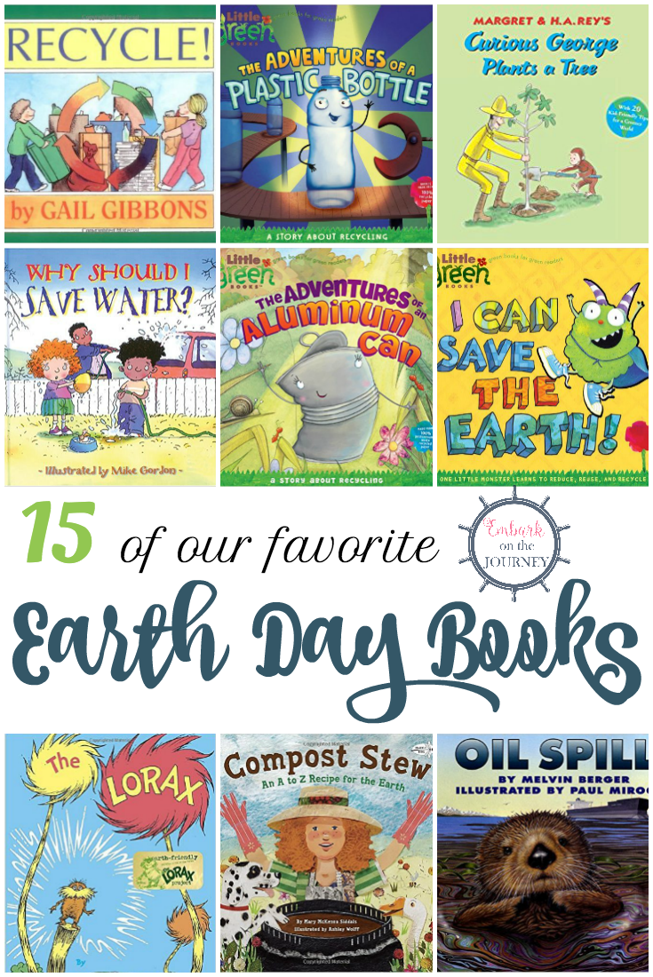 April 22 is Earth Day. Fill your book basket with Earth Day picture books for kids. | embarkonthejourney.com