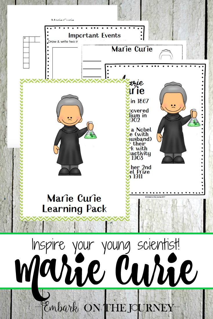 A Marie Curie unit study that is sure to inspire your young learners. It's perfect for Women's History Month {March}!   embarkonthejourney.com