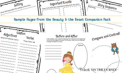 Beauty And The Beast Storybook Companion Activities For K 3