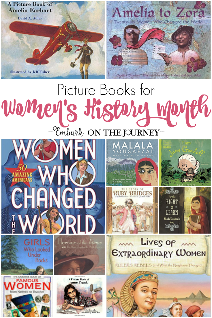 Inspire your daughters to do great things with these books featuring strong women! They're perfect for Women's History Month in March. | @homeschljourney