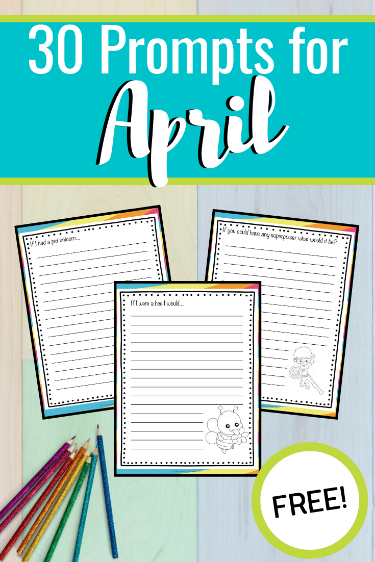 Don't wait to download and print this awesome set of April writing prompts for elementary students! There are 30 prompts to get you through the month.
