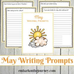 31 elementary writing prompts for May! Celebrate spring and kick off your summer with these printable writing prompts.
