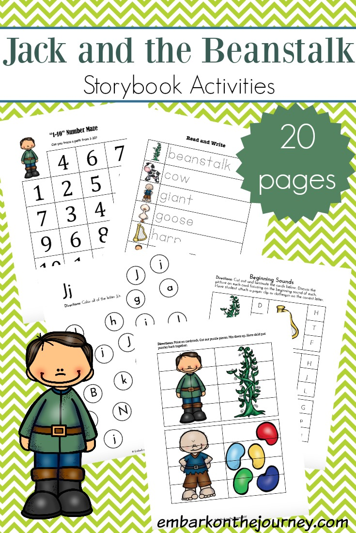 Bring the story to life with this awesome collection of Jack and the Beanstalk printables and activities for kids in grades K-3!