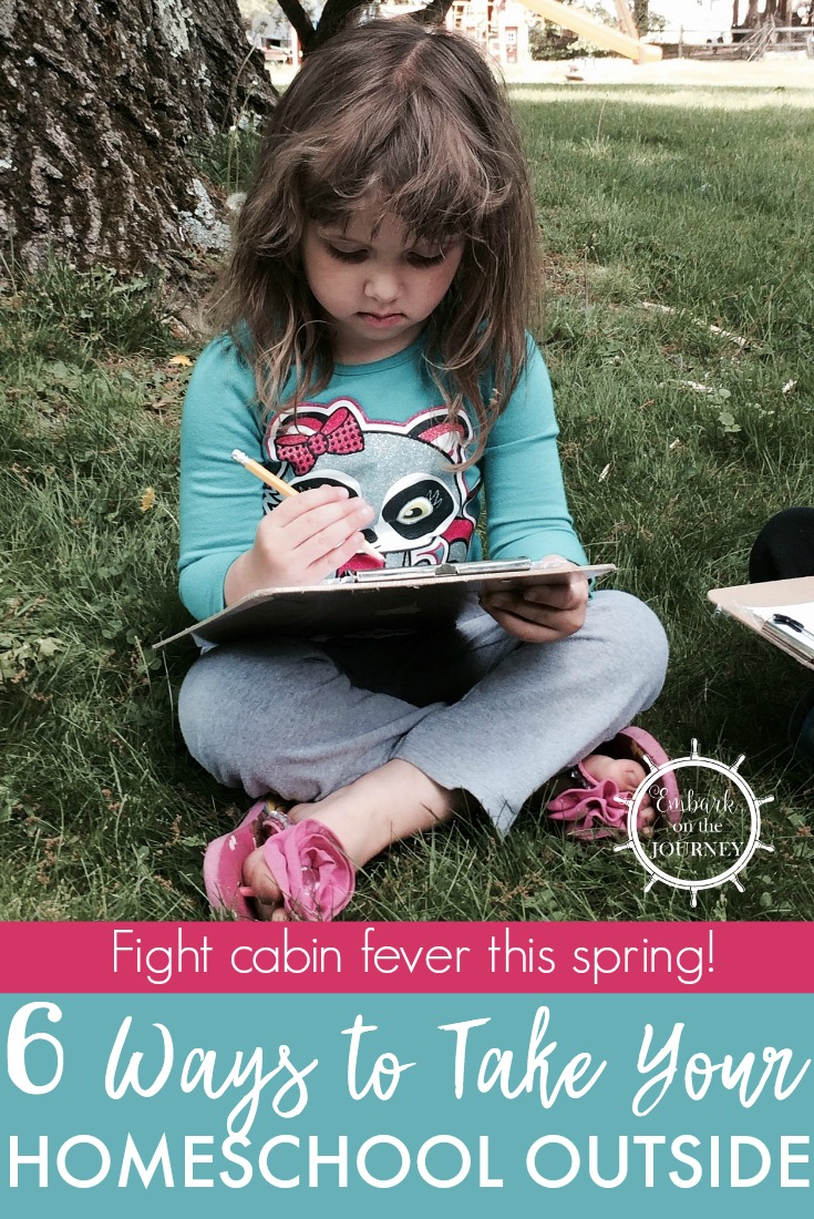 Spring is here and instead of fighting it take your homeschool outside and make the most of it. Go get some fresh air to breathe new life into your homeschool.