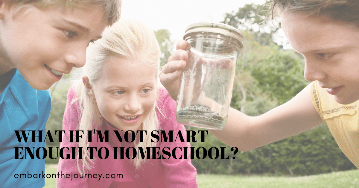 "New homeschoolers often have many questions. I've heard some say, ""I'm not smart enough to homeschool."" I want to assure you that you are!"
