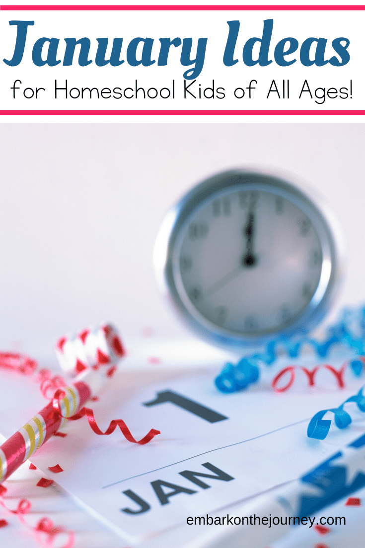 Looking for year round homeschooling ideas? Add some fun studies to your January homeschool lessons with these units, printables, books, and more.