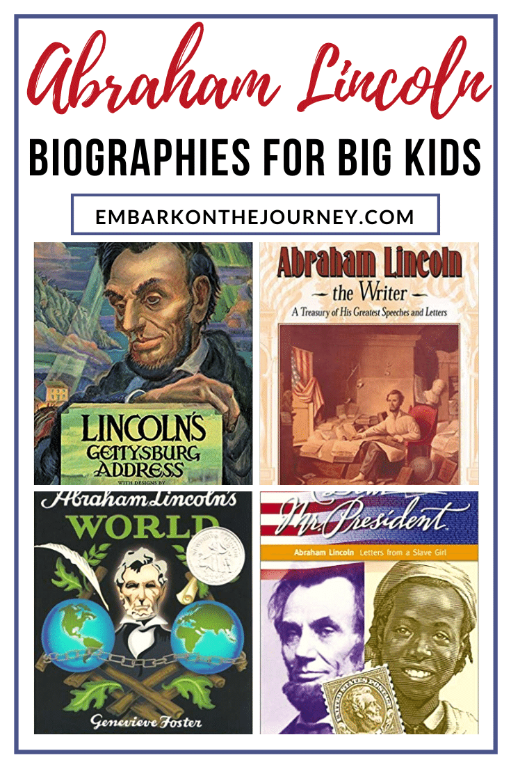 Here are some Abraham Lincoln biographies that you can use to teach your middle schoolers more about the life of this amazing man.