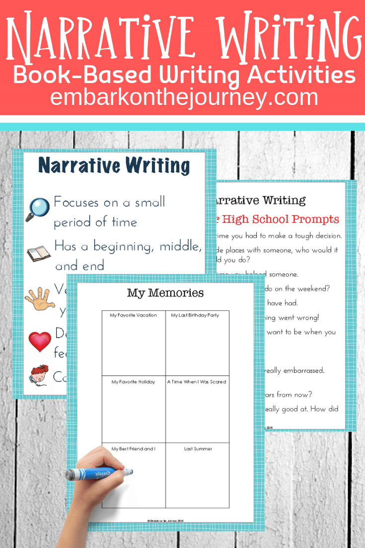 Use picture books to teach narrative writing for kids. These stories and free worksheets will help them learn to tell stories with a personal perspective.