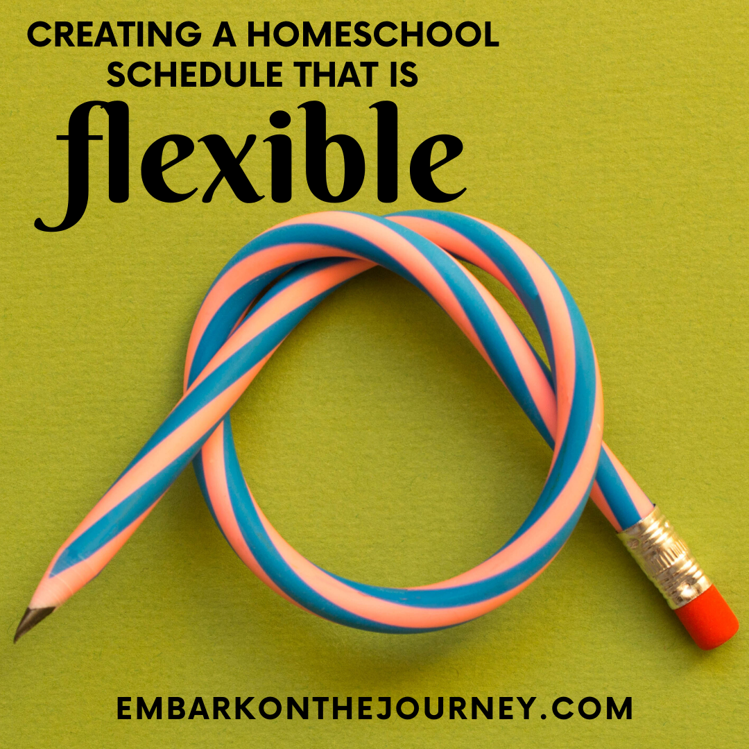 Flexibility is the key to homeschool sanity! Don't be a slave to your schedule. Learn how to make your homeschool schedule work for you.