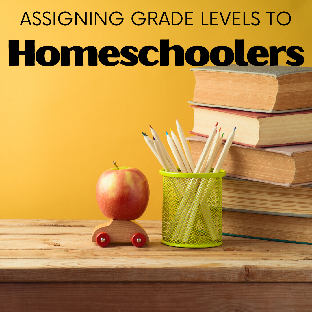"""Are grade levels important? Does it matter what grade kids are in? One homeschool mom discusses when """"what grade are you in"""" matters and when it doesn't."""
