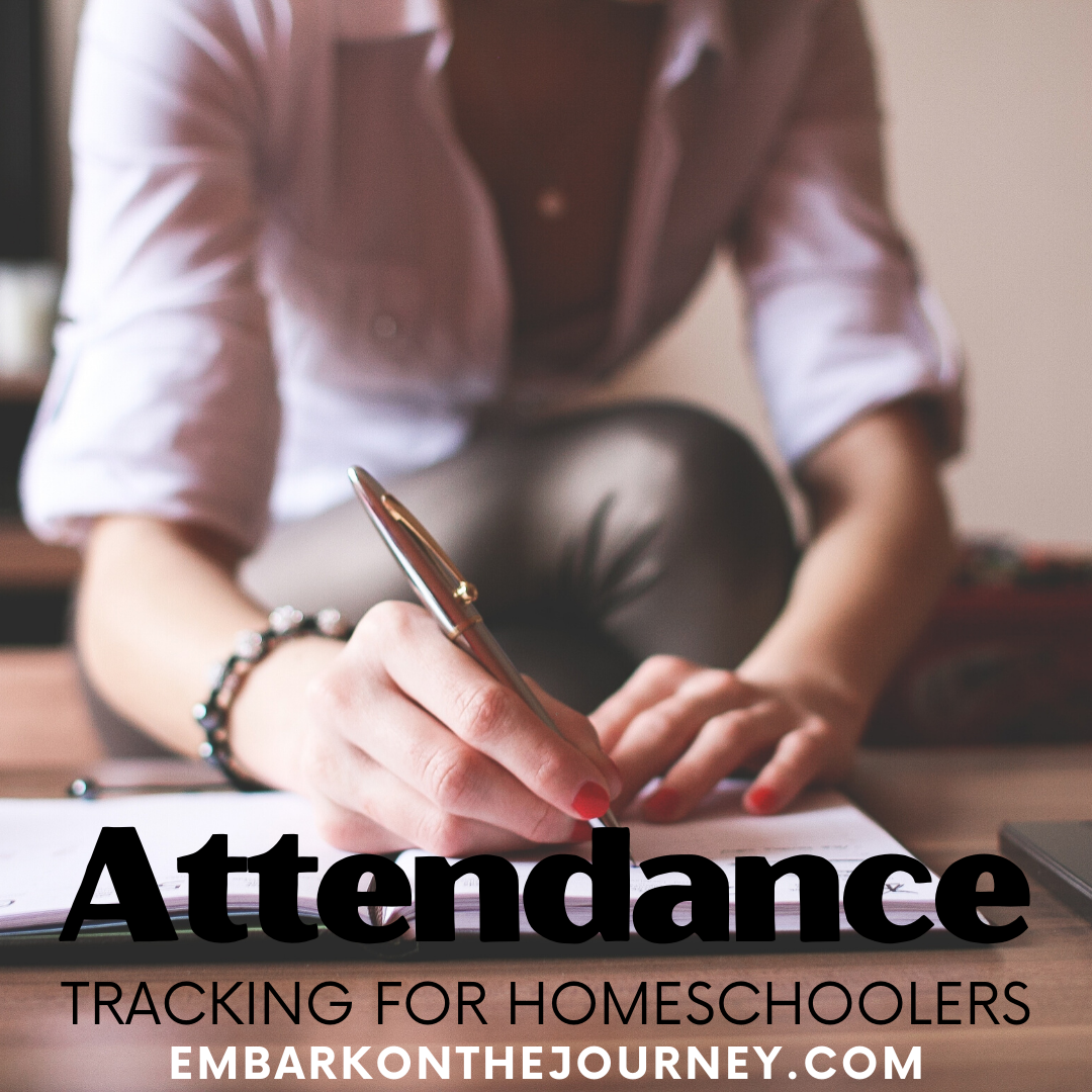Do you track homeschool attendance because it's required or to keep track of where you are in your school year? Tips and resources for tracking attendance.