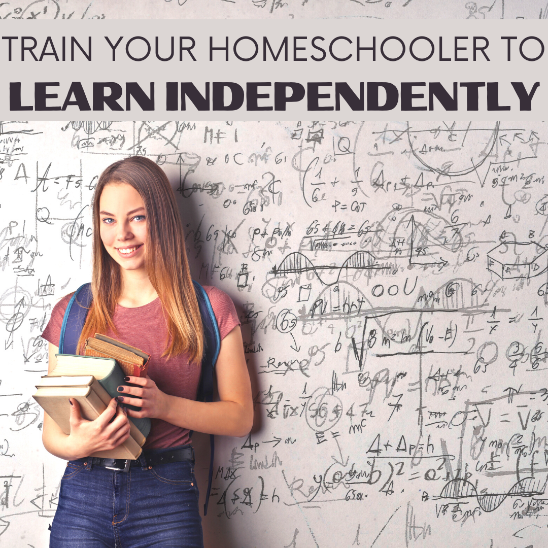 Help foster independence in your homeschool! Here are three easy steps you can implement to train your homeschoolers to learn independently.