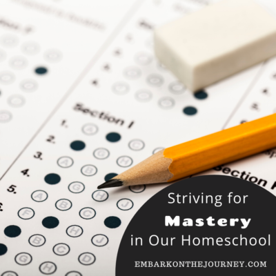 Striving for Mastery In Our Homeschool
