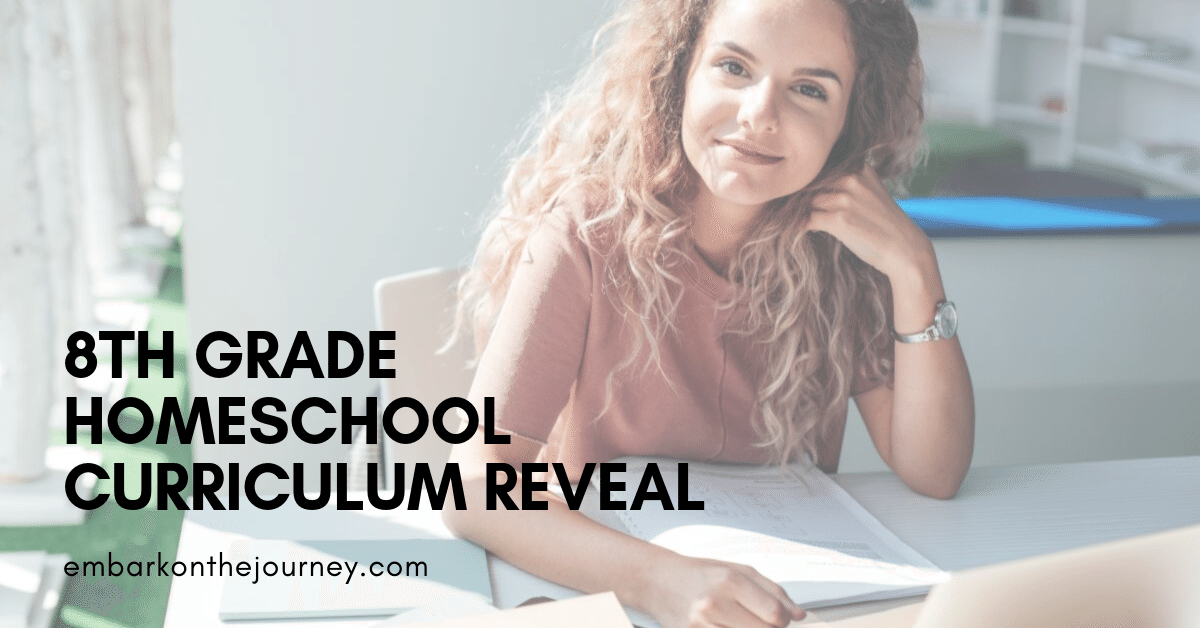 We're gearing up for another homeschool year! Here's what we've chosen for our 8th grade homeschool curriculum.