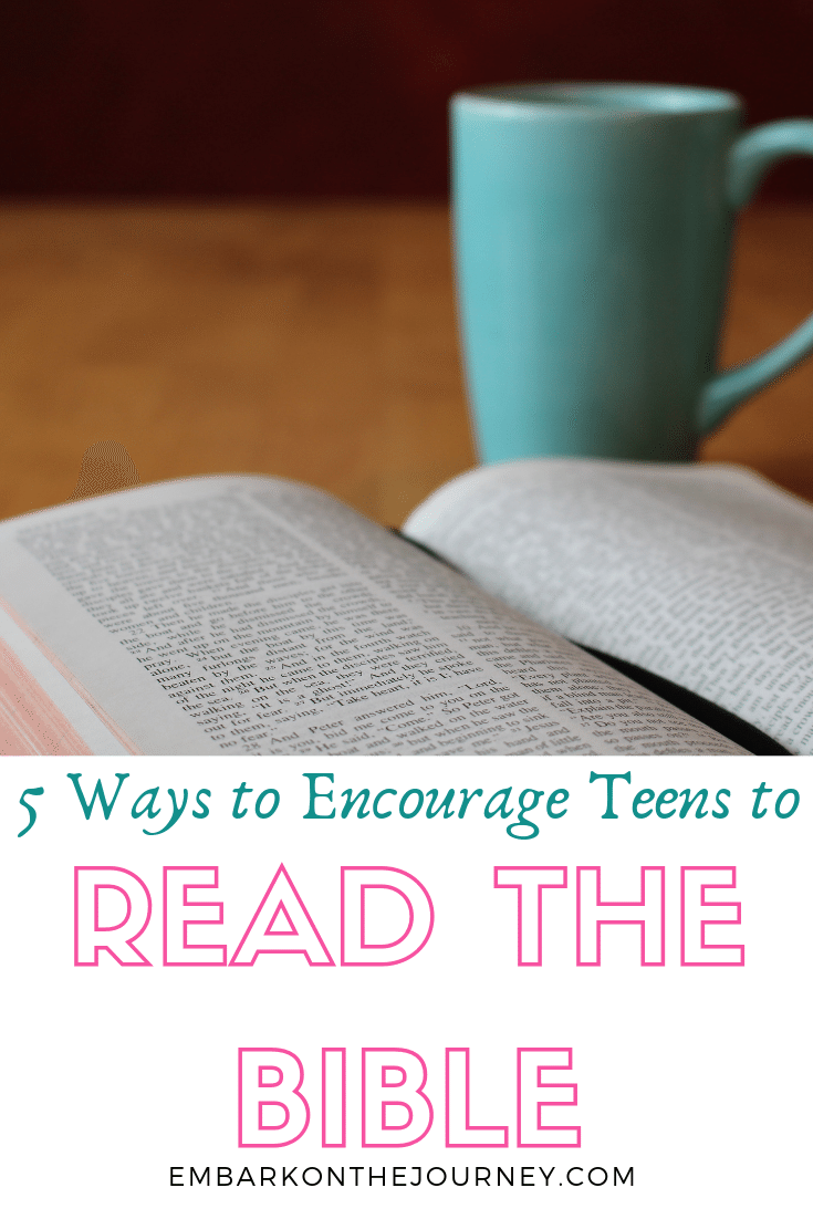 Do you want to switch from momma-led Bible reading to self-directed Bible study? Here are 5 ways to encourage teen girls to read the Bible.