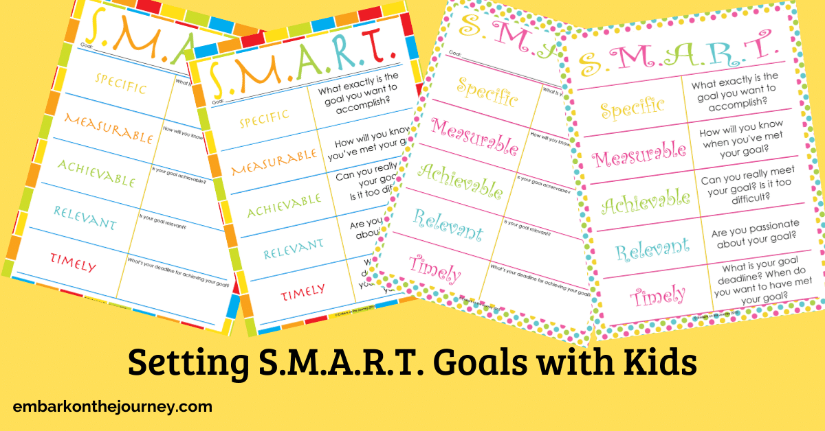 Helping kids set goals that are achievable can be a daunting task. It doesn't have to be. These resources will help you teach SMART goals for kids.
