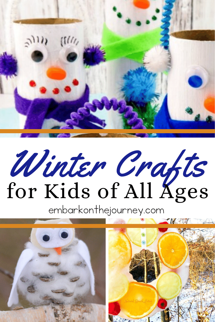 This collection of winter crafts for kids will keep your crew busy during the long, cold winter months! There's something on this list of kids of all ages.