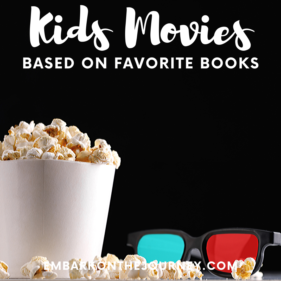 This is an amazing list of the best kids movies based on books that kids in grades K-5 will enjoy! These movies are perfect for kids ages 4-14!