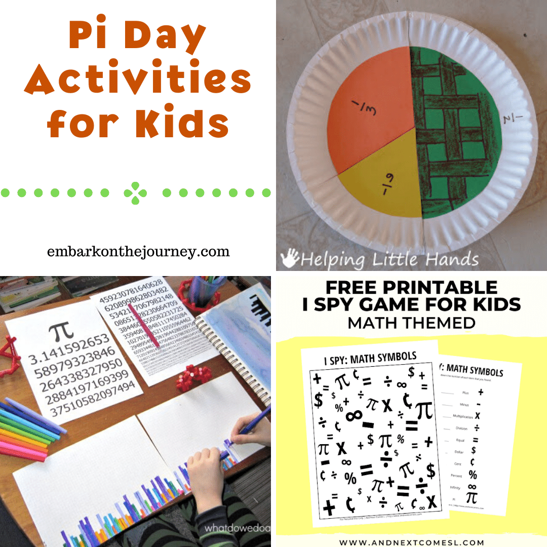You can celebrate Pi Day on 3/14 in your homeschool with this amazing collection of Pi Day activities and crafts for kids of all ages!