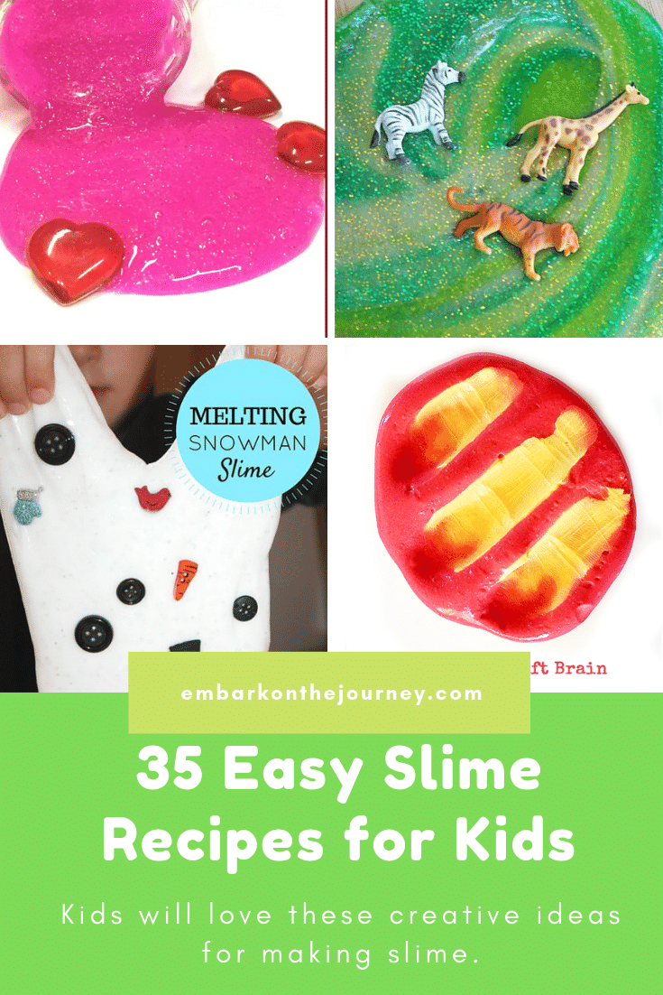 If your kids are as obsessed with slime as mine is, you have to check out this amazing collection of over 35 easy slime recipes for kids!