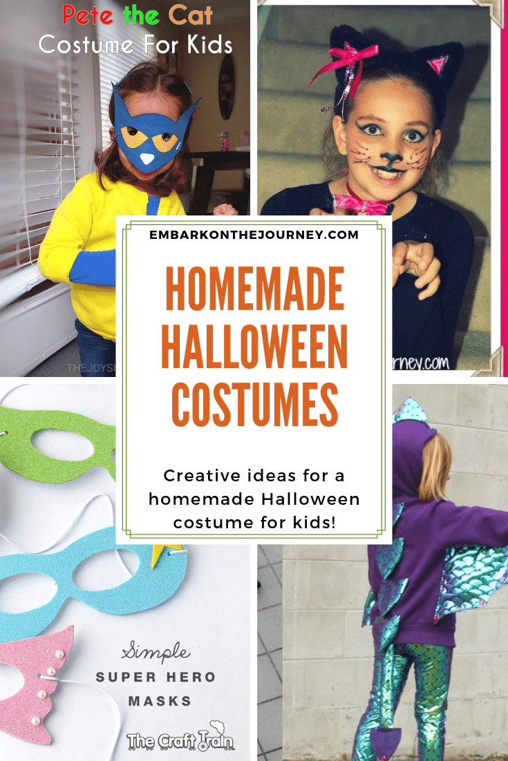 You don't have to spend a ton of money on a costume for your kids this Halloween! Try one of these homemade Halloween costume ideas!