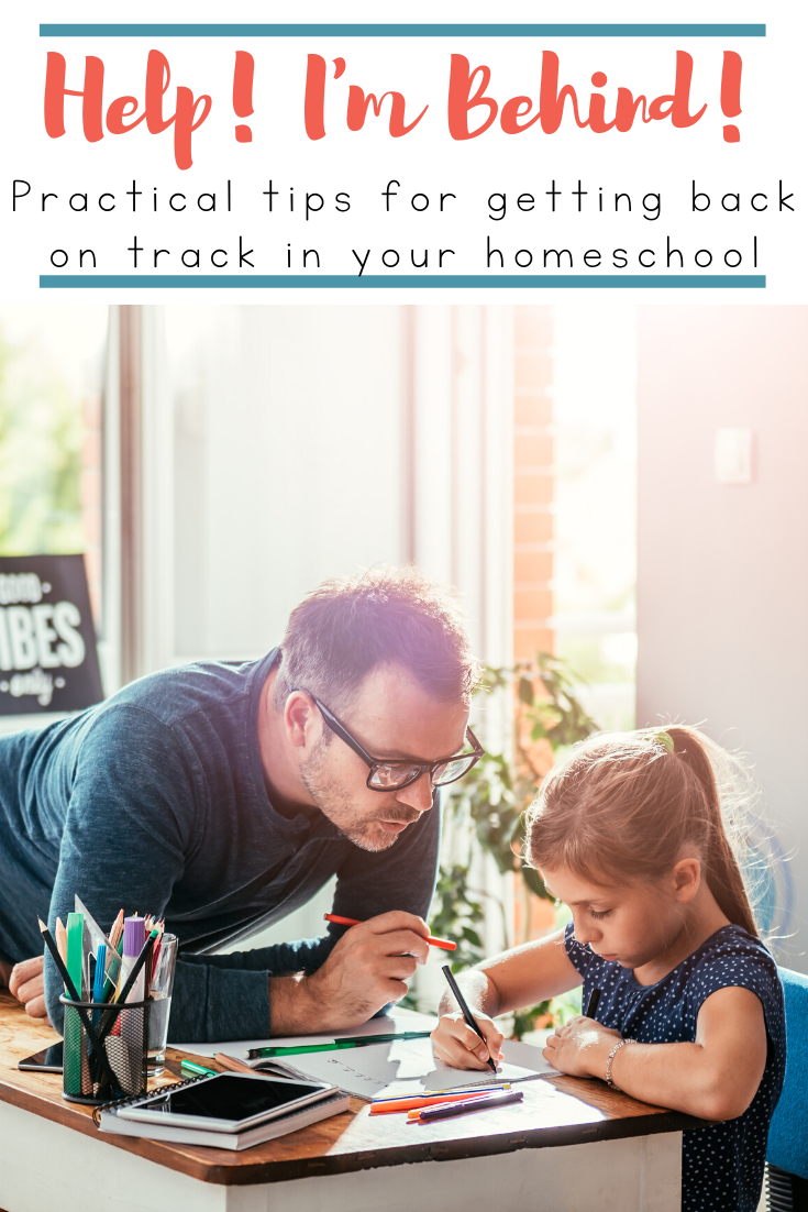 Being behind in your homeschool is frustrating. It's very overwhelming, and I want to throw in the towel! How do I find the motivation to keep going when we're so far behind?
