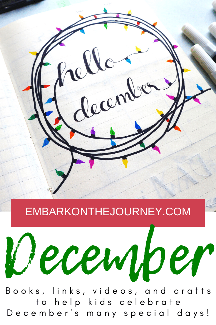 Christmas isn't the only holiday in December. Use these books and December activities for kids to celebrate all of December's special days!