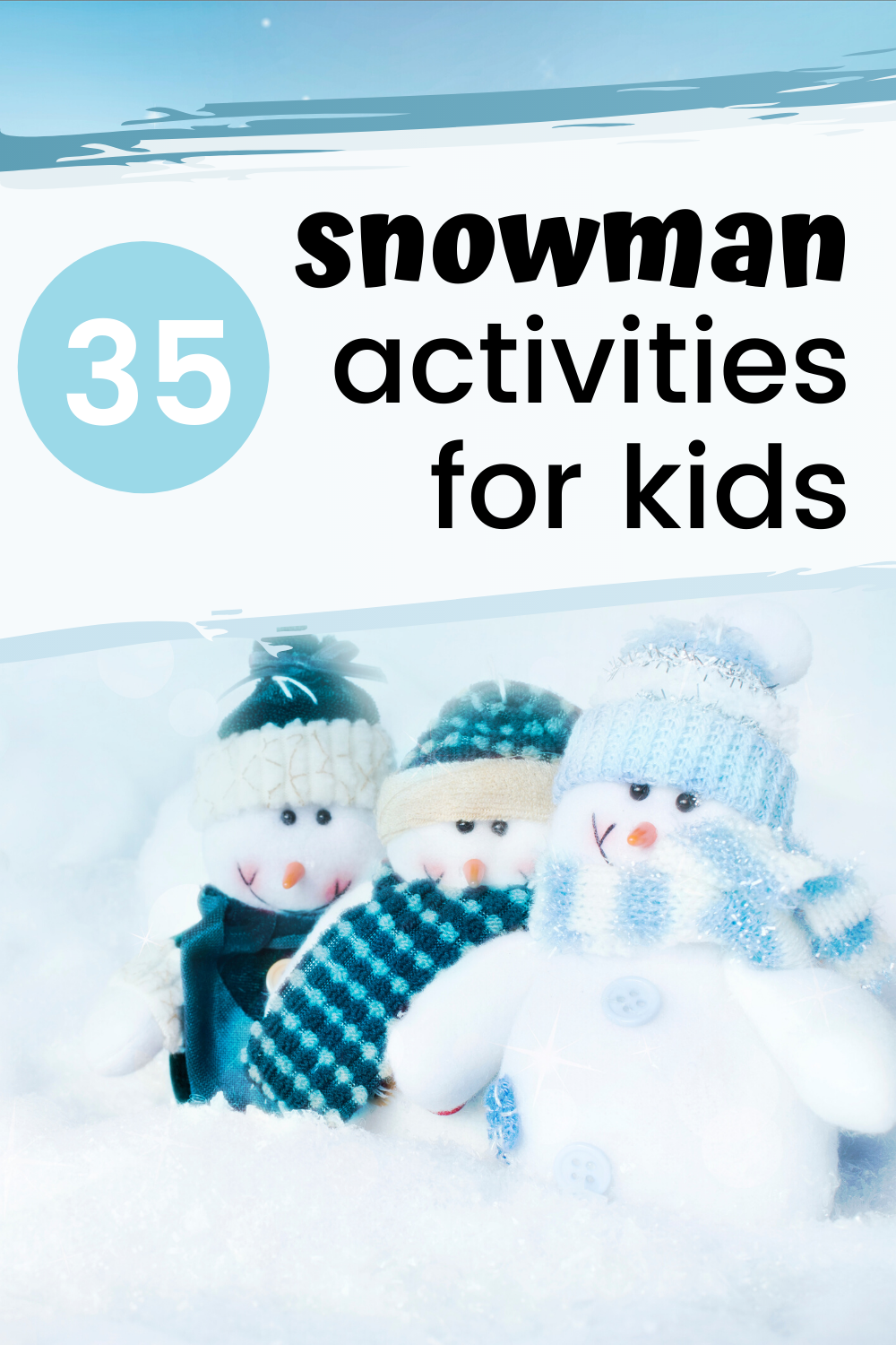 Keep kids busy this winter with one or more of these snowman activities for kids. Discover crafts, art projects, hands-on activities, printables, and more.