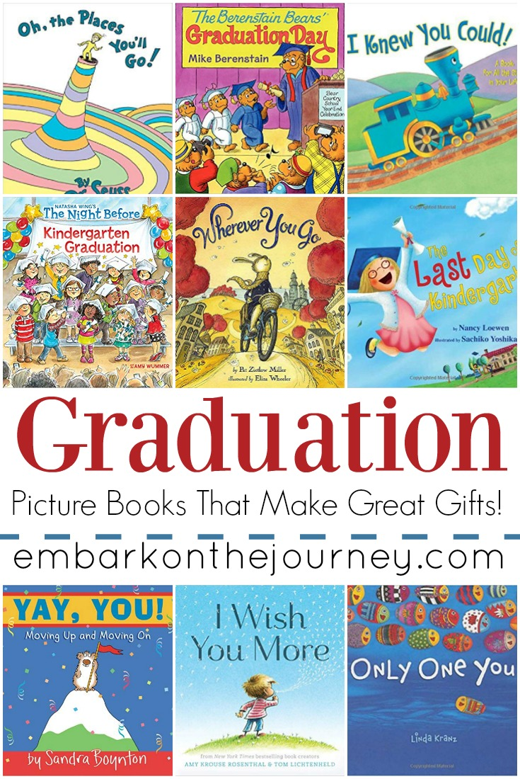 Graduation season is upon us. If you're looking for something inspirational for your grad, these graduation picture books make great gifts!