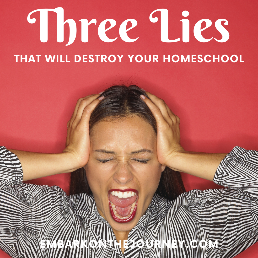 Have you fallen for these lies homeschooling moms believe? I did. But, now I know the truth! Don't let these lies sabotage your homeschool!