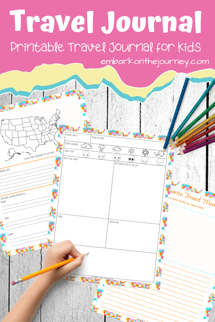 Kids will love recording their thoughts and memories in this fun kids travel journal! It'll make a great keepsake for years to come.