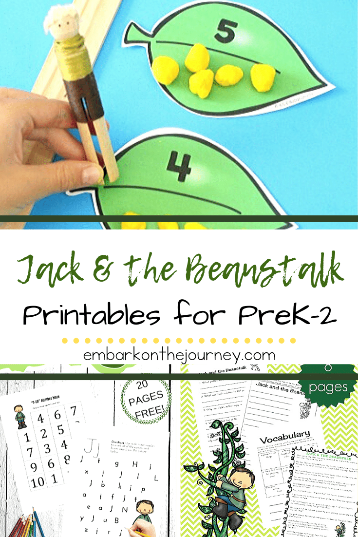 Bring the story to life with these Jack and the Beanstalk printables! They're perfect for adding to your spring or fairy tale themes.