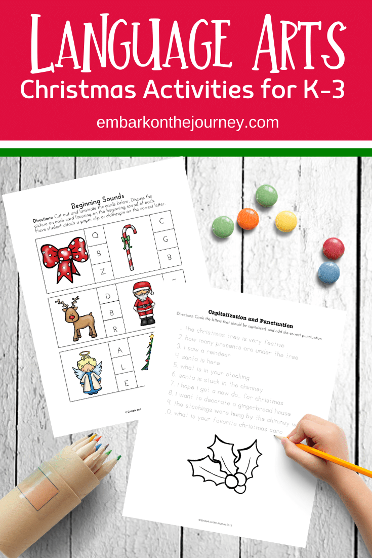 Christmas Language Arts Printable