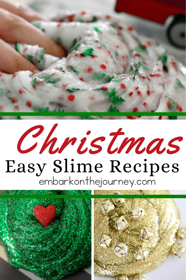Easy Slime Recipes for Christmas