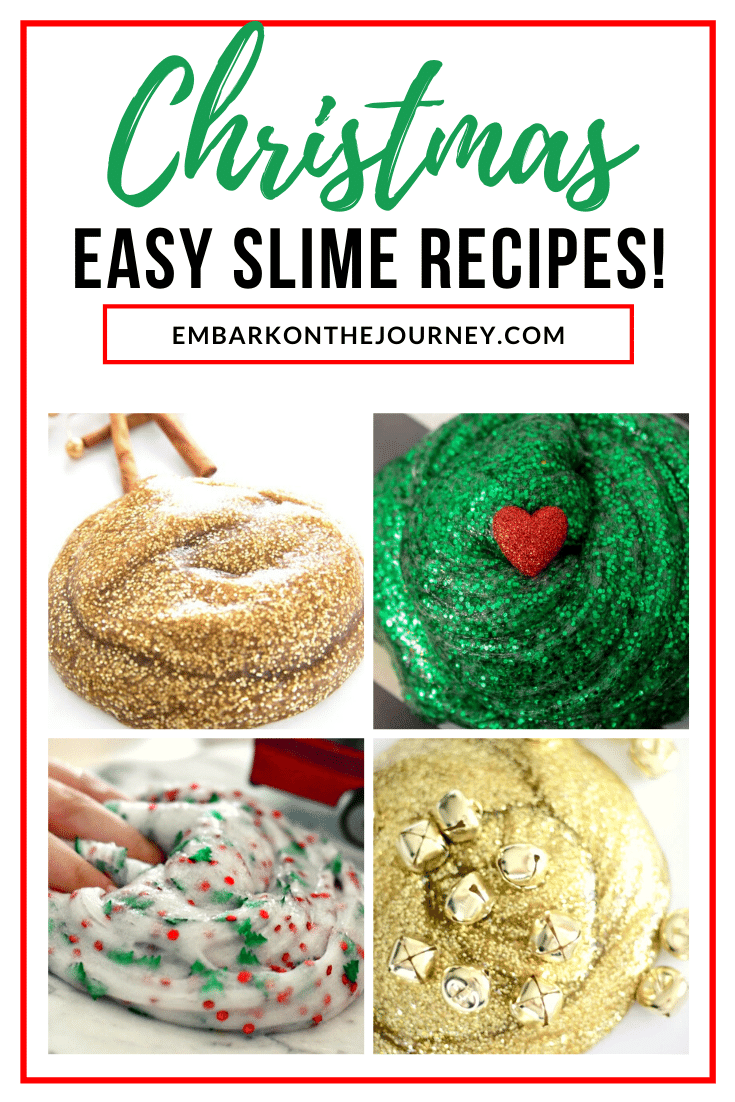 Don't let the kids get bored during Christmas break! Make one or more of these easy slime recipes for Christmas, and keep kids entertained for hours.