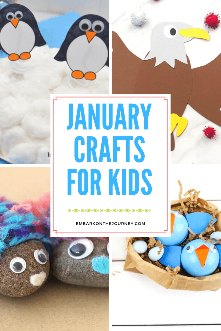 You don't want to miss this collection of January crafts for kids! They coincide with many popular January holidays, and they're so much fun!