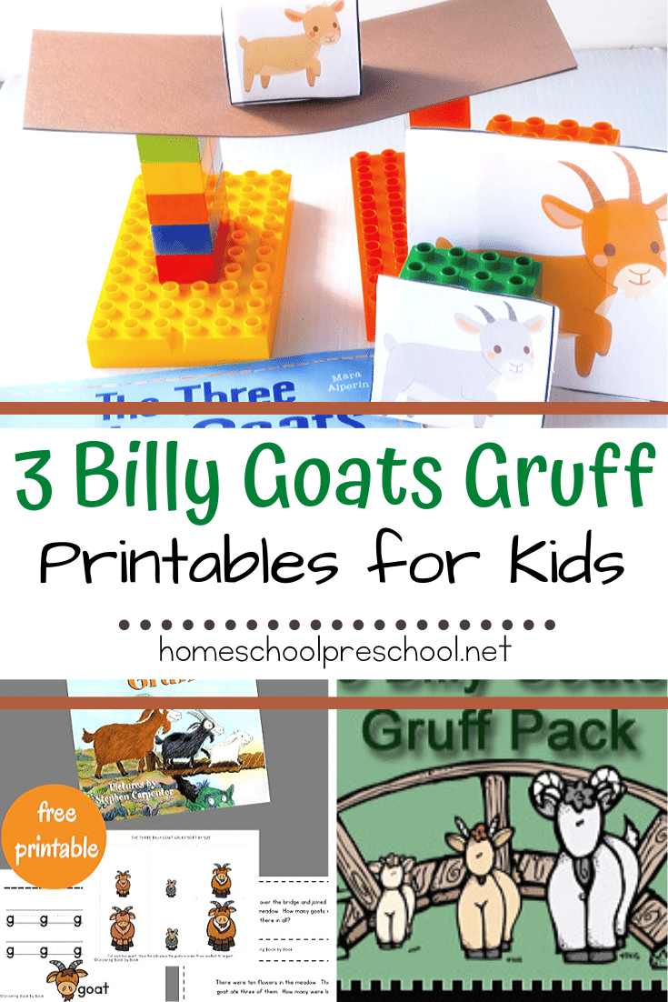 These free Three Billy Goats Gruff printableswill help your and your students dive deep into this popular fairy tale for kids.