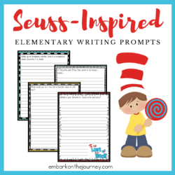 Whether you're celebrating Dr. Seuss's birthday or you're looking for some fun writing activities, don't miss these printable Dr Seuss Writing Prompts!