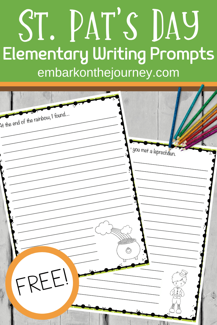 This March, get your child's creative juices flowing with these St. Patrick's Day writing prompts. Includes free printable writing paper!