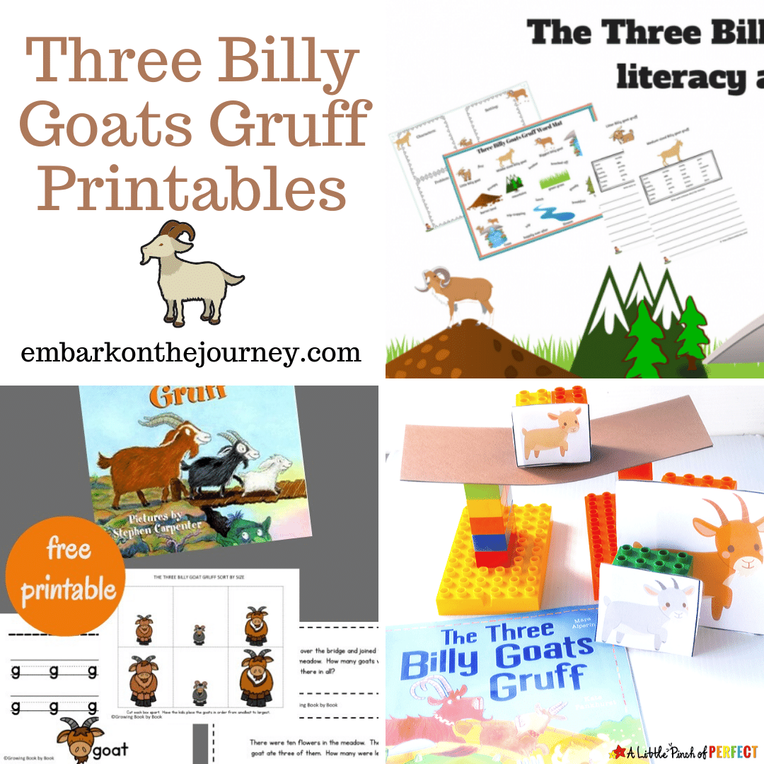 Free Three Billy Goats Gruff Printables