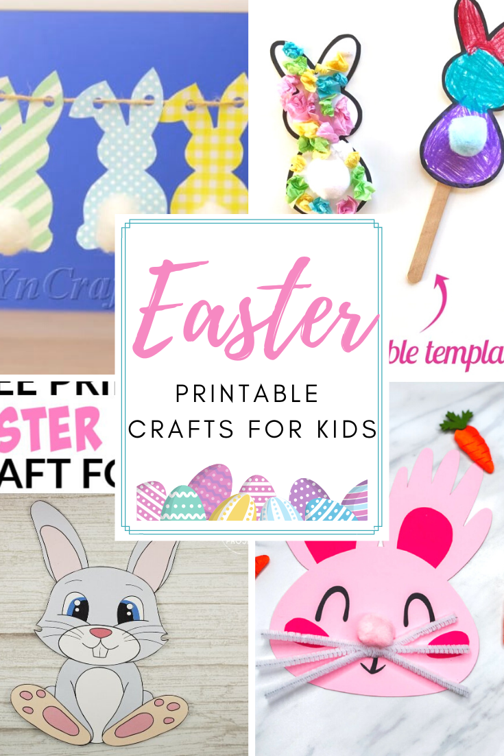 Discover a variety of Easter printable crafts for kids both young and old. Find both easy cut and paste crafts and more detailed, creative ones.