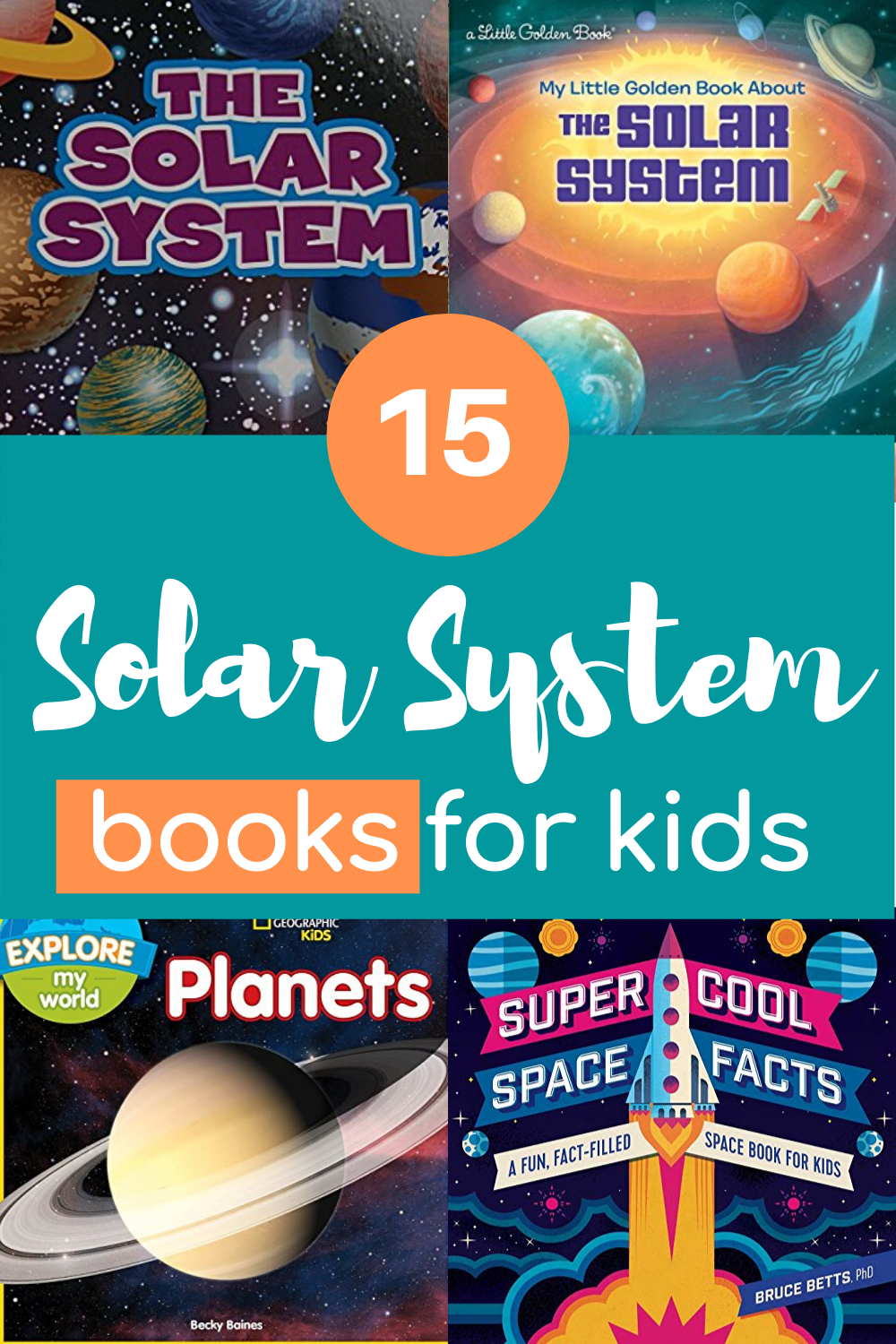 Your budding astronauts will love this collection of solar system books for kids! They'll love learning about the planets, stars, sun, and moon.