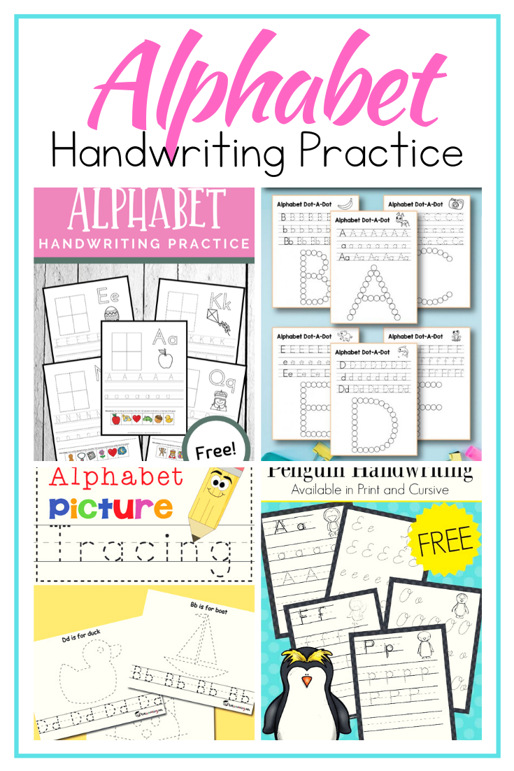Add these free ABC handwriting practice pages to your homeschool lessons. Find pages for many themes, seasons, and holiday! Perfect for K-2 students.