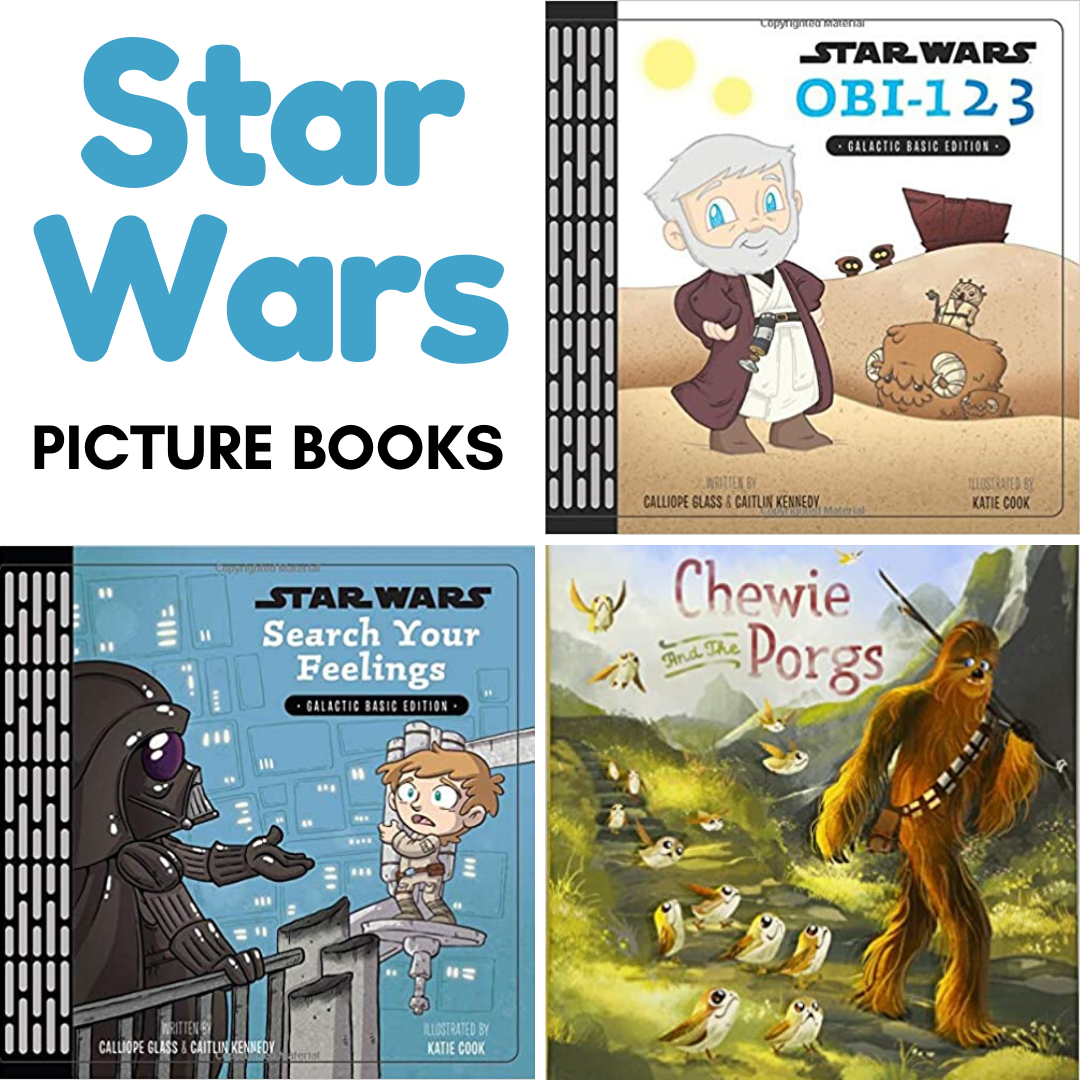 Celebrate Star Wars Day with this wonderful collection of Star Wars picture books that kids of all ages will enjoy. Engage young readers with their favorite characters!
