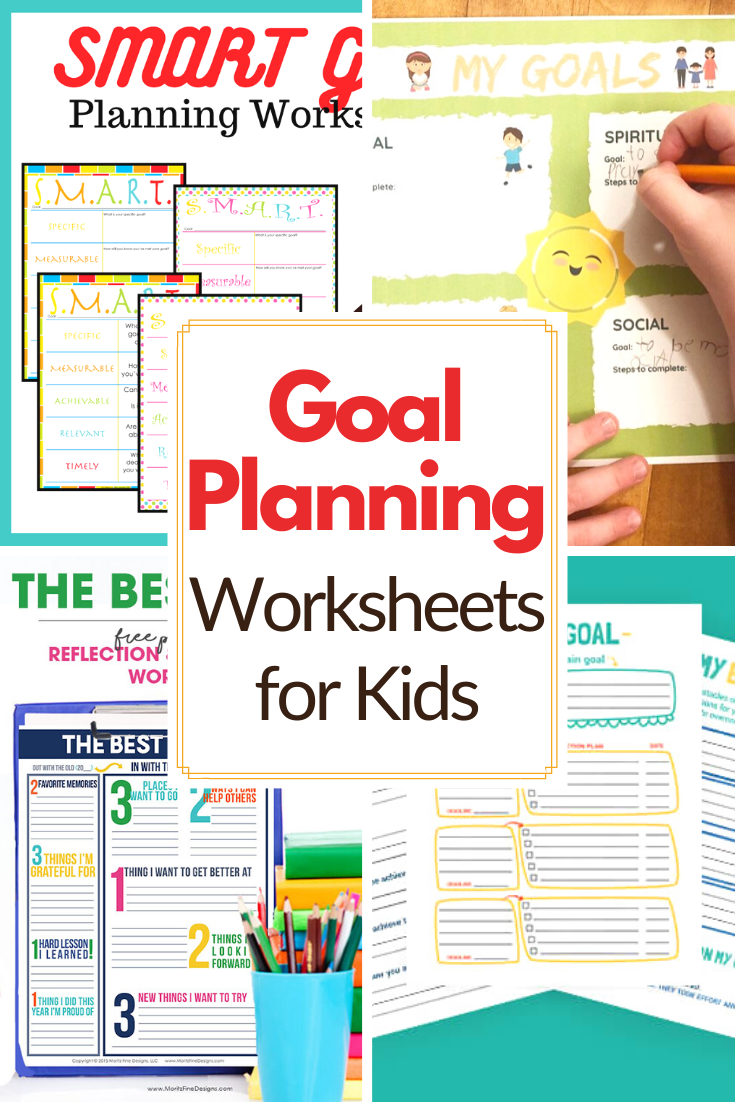 Teach kids to set and reach their goals with this collection of goal setting worksheets for kids. There's something for everyone on this list!