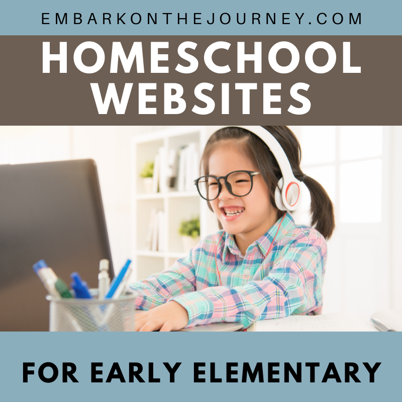 If you are homeschooling kids in grades 1-3, you do not want to miss this amazing list of early elementary homeschool sites! Full of printables, book lists, and hands-on activities!