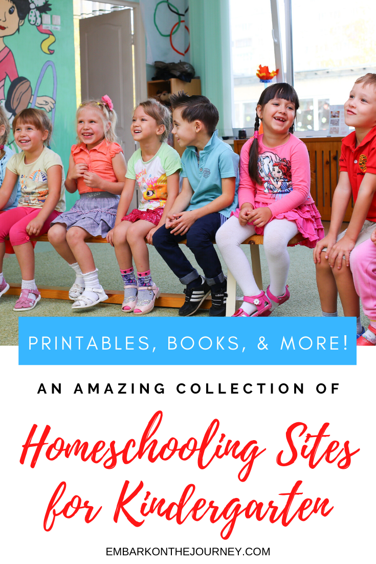 This collection of homeschooling websites for kindergarten include book lists, free printables, teaching tips and more for both new homeschool moms and veterans!