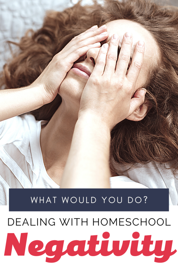 You've made the decision to homeschool. Now you're facing negative feedback about it. How do you handle negativity about homeschooling? Here's what I do...