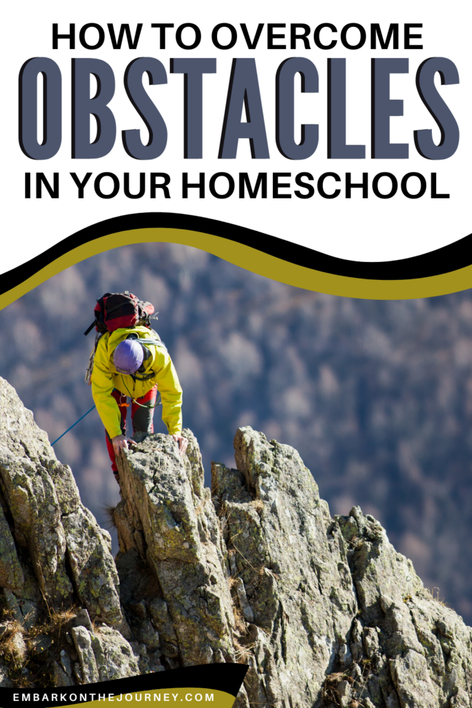 Over the past 18 years, many obstacles have threatened to crumble my homeschool. Discover three ways you can overcome obstacles in your homeschool.